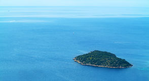 Little island seen from above Royalty Free Stock Photography