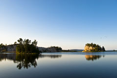 Little Islands. Cape Breton Bras d'Or Lake showing Tiny Islands Royalty Free Stock Image