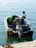 Little italian fishing boat on the sea Royalty Free Stock Images