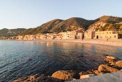 The little Italian paradise Varigotti. Varigotti, beautiful village Savona Liguria royalty free stock photography