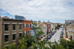 Little Italy Area in Baltimore, Maryland during Summer royalty free stock images