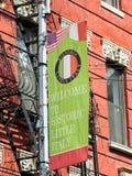 Little Italy banner, Manhattan, New York. Stock Image