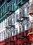 Little Italy Buildings in Manhattan, New York City Stock Photo