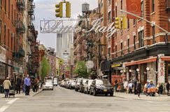 Little Italy, Manhattan, New York City Stock Images