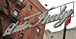 Little Italy New York City Mulberry Street Chinatown Manhattan stock photos