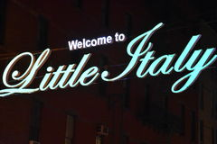 Little Italy in New York. USA Stock Images