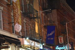 Little Italy in New York. USA Royalty Free Stock Photos