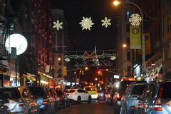 Little Italy in New York. USA Stock Photo