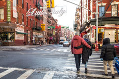 Little Italy NYC stock images