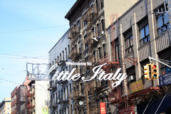 Little Italy NYC Royalty Free Stock Image