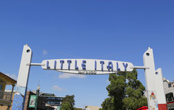 Little Italy Sign in San Diego Royalty Free Stock Image