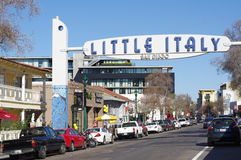 Little Italy sign in San Diego Royalty Free Stock Photography
