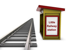 little järnväg station Royaltyfri Fotografi