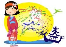 Little Japanese girl Stock Image