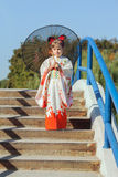 The little japanese kimono child Royalty Free Stock Photos