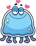Little Jellyfish in Love Stock Images