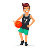 Little kid -  basketball player Stock Photo