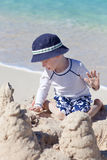 Little kid at the beach Royalty Free Stock Image