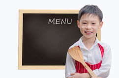 Little kid chef Royalty Free Stock Photo