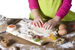 Little kid cooks Stock Photos