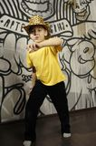 Little kid dancing royalty free stock image
