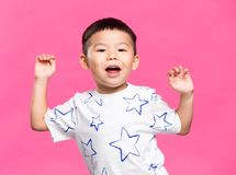 Little kid dancing. Asian young little boy stock images