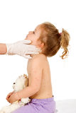 Little kid at the doctors Stock Image