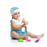 Little kid fishing Royalty Free Stock Photography