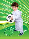 Little kid with a football Royalty Free Stock Photos