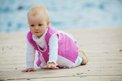 Little kid girl Stock Images