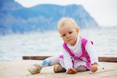 Little kid girl Royalty Free Stock Images