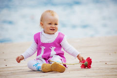 Little kid girl Royalty Free Stock Photo