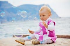 Little kid girl Stock Images