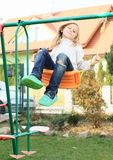 Little kid - girl on swing Royalty Free Stock Photography
