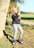 Little kid - girl on swing Stock Photography