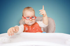 Little kid with glasses Royalty Free Stock Photo