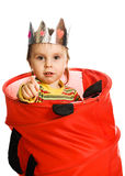 Little kid hiding Royalty Free Stock Photos