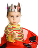 Little kid hiding Royalty Free Stock Photo