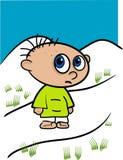 Little Kid Illustration Royalty Free Stock Image