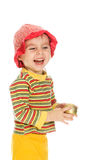 Little kid laughing Royalty Free Stock Image