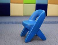 Little kid Plastic Chair or stool. Decorated on kindergarten Stock Image