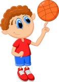 Little kid play basket ball Stock Photography