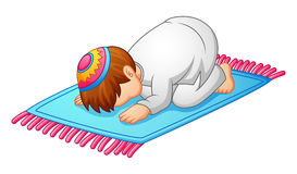Little Kid Prostration For Praying Of Muslim Stock Photography