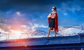 Free Little Kid Protecting The City From Evil Royalty Free Stock Photography - 116439057