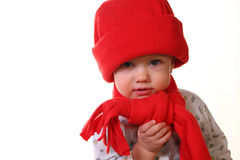 Little kid in the red hat, Royalty Free Stock Photo