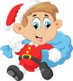 Little kid with santa costum Stock Photo