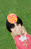 Kid with lollipop Royalty Free Stock Photo
