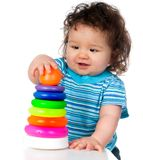 Little kid with  toy Royalty Free Stock Photo