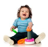 Little kid with  toy Royalty Free Stock Images