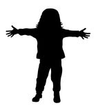 Little kid. Vector illustration of little kid with outstretched arms Royalty Free Stock Photos